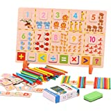 Baybee Premium Wooden Multifunction Learning Box Toys Wooden T Box Calculation Children'S Educational Toy For Boy And Girl