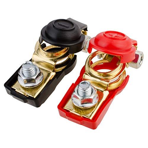 TOOHUI Batterieschalter, Batterie Polklemmen Autobatterie Schnellklemmen Batterieklemmen Steckverbinder Auto Batterieclips Anschlussklemmen Batterie Boot KFZ PKW (1 Paar)