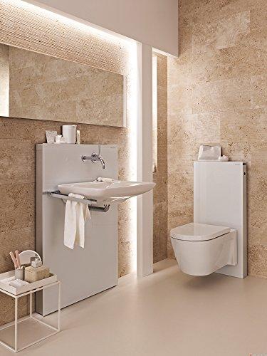 Geberit Spülmechanismus/Cist. Vista-Monolith WC KB04unten Glas weiß Aluminium