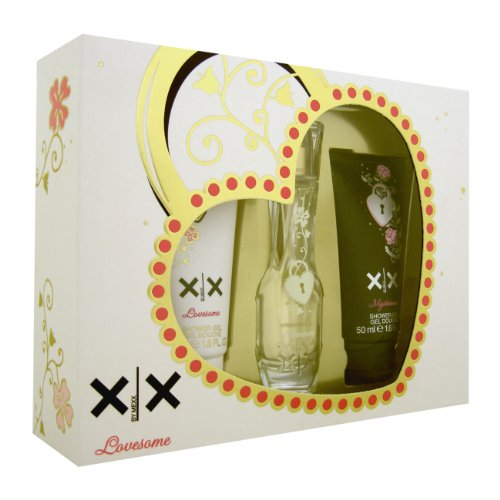 "Mexx, XX By Lovesome, Eau de Toilette da donna (20 ml), gel doccia ""Mysterious"" (50 ml), gel doccia ""Lovesome"" (50 ml)"
