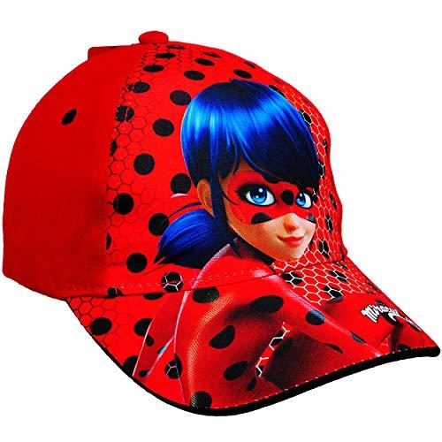 alles-meine.de GmbH Basecap - Miraculous - Ladybug und Cat Noir - Größe 3 bis 12 Jahre - universal & verstellbar - 100 % Baumwolle - für Mädchen & Jungen - Kinder - Mütze / Somme..
