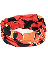 Flame Printed Multifunction Seamless Wear Neck Warmer Scarf Orangered