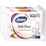 Zewa Soft Shea Lot 4 paquets de 42 lingettes de toilette humides au beurre de karité