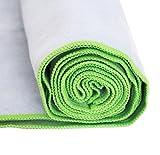 Premium Yoga Handtuch aus Mikrofaser als Auflage für die Yogamatte