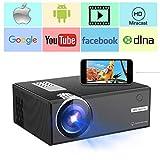 Proiettore Video, Proiettori Weton 2400 Lumens LED Mini (Supporto 1080P) Proiettore da esterno per esterno portatile per smartphone, 50000 ore Durata della lampada, Supporto HDMI / VGA / USB / AV