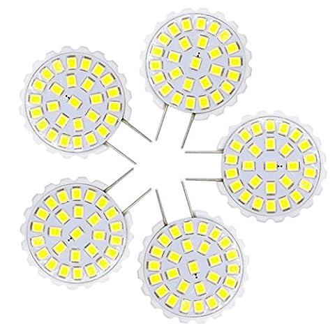 Haute qualité , G8 2835 SMD 27LED 1.5W 100-150Lm Blanc chaud Blanc brillant Lustre Lumière décorative Lumières Bi-Pin AC 110-140V (5PCS) Fit Maison et cuisine ( Couleur : Blanc Neige )