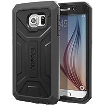 Funda Samsung Galaxy S6 Edge - Poetic [Serie Revolución] [Pesada] [Doble Capa] Funda de Protección Hibrida Completa sin Protector de Pantalla Incorporado para de Samsung Galaxy S6 Edge (2015) Negro/Gris (3 Años Garantía del Fabricante Poetic)