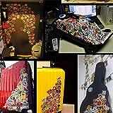 Justdodo 100pcs Impermeabile Skateboard Longboard Vintage Vinile Adesivo Laptop Decor Design Divertente Bambini Adesivo per Bagagli Adulti - Multicolore