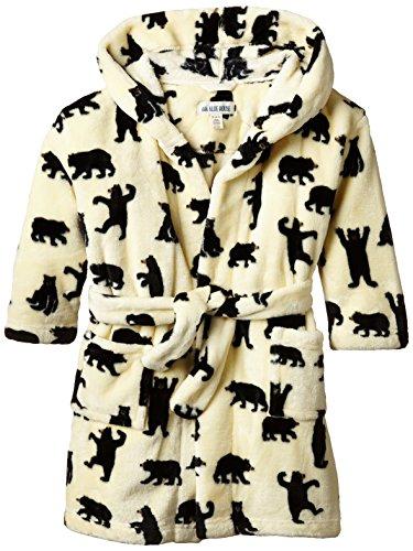 Hatley Kids Fleece Robe - Black Bears On Natural-Vestido Niños Hatley