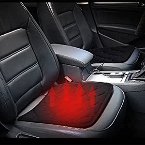 Comfortable Quick Warming Heated Car Seat Cushion Pad Auto 12V Heater Warmer Pad Hot Cover Automobile Heating Mat for Cold Weather and Winter Driving