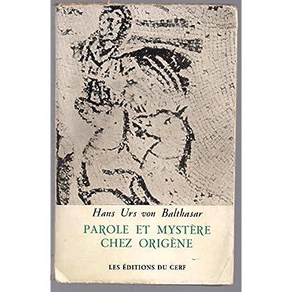 Parole et mystère chez Origène