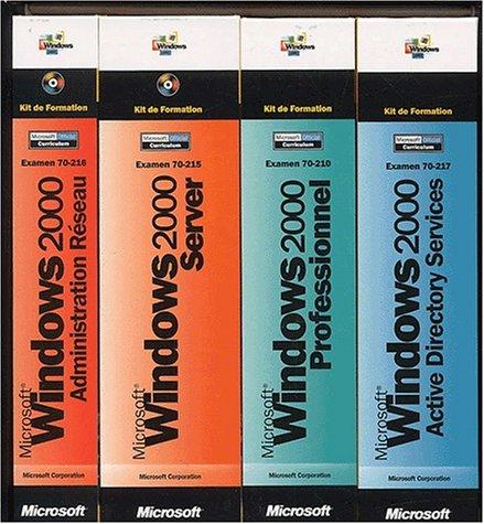 Kit de Formation Microsoft Windows 2000 - livre de référence - français (pack de 4 )
