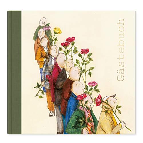 Grätz Verlag Nostalgie Gästebuch 120 Seiten für Hochzeit, Geburtstag und andere Anlässe, Hochzeitsgästebuch Goldene Hochzeit, Silberhochzeit, Erinnerungsbuch