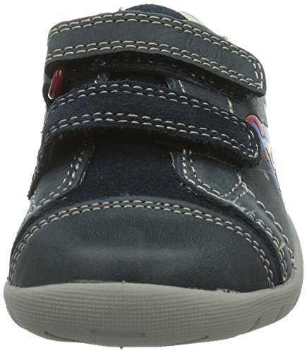Clarks Softly Jet Fst Jungen Sneakers Blau (Navy Leather)