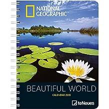 National Geographic Beautiful World Wochenkalender - Taschenkalender, Diary, Naturkalender 2018 - 16,5 x 21,6 cm