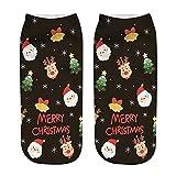 Solike Unisex Weihnachten Festlicher Spaß Neuheit Cotton Socken Weihnachtssocken Christmas stockings 1 Paar, 3D Drucken Design für Damen und Herren
