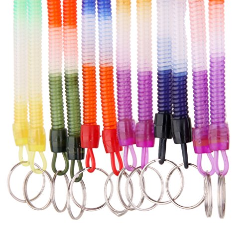 anhänger Haken Flexible Spiral Stretchy Kabel Schlüsselband, 12er Set ()