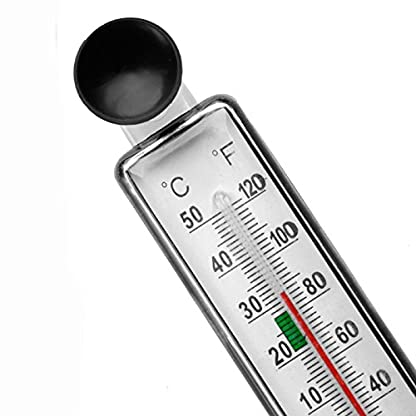 LANDUM Aquarium Fish Tank Thermometer Glass Meter Water Temperature Gauge Suction Cup 6