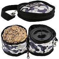 RCRuning-EU Plegable Perro de Viaje Bowl, Gato de Animal doméstico Alimentación de Agua de alimentación Bowl portátil Perro Gato Mascota Bebedero