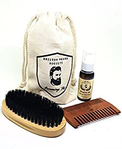 beard grooming kit beard oil gift set brush beard comb beard oil kit sandalwood travel. Black Bedroom Furniture Sets. Home Design Ideas