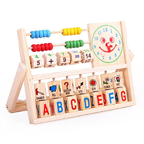 Xinantime Kids Toys, Xinantime Learning Developmental Versatile Flap Abacus Wooden Toys