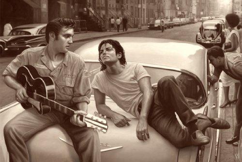 Elvis Michael Póster de Hora de Lost In Presley Jackson raras caliente nueva 24x 36