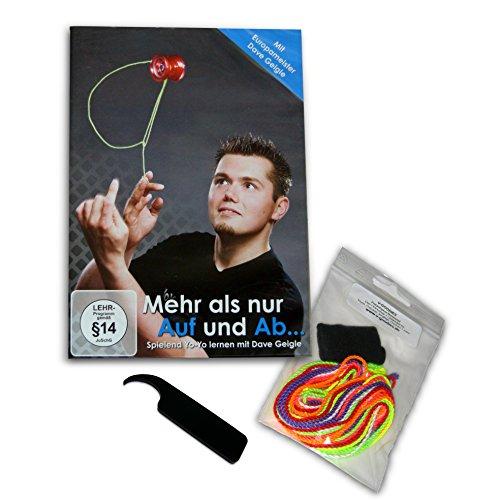 i Yoyo, Yoyoboard und weitere Yoyo Trick-Lern-DVD inkl. Einsteiger-Set: 7 Jojo Ersatzschnüre, 1 Finger-Protector, 1 Putty-Tool (Yoyo Minute)