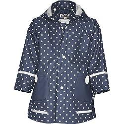 Playshoes Abrigo impermeable con lunares de manga larga para niña, talla 6 años (116 cm), color Azul