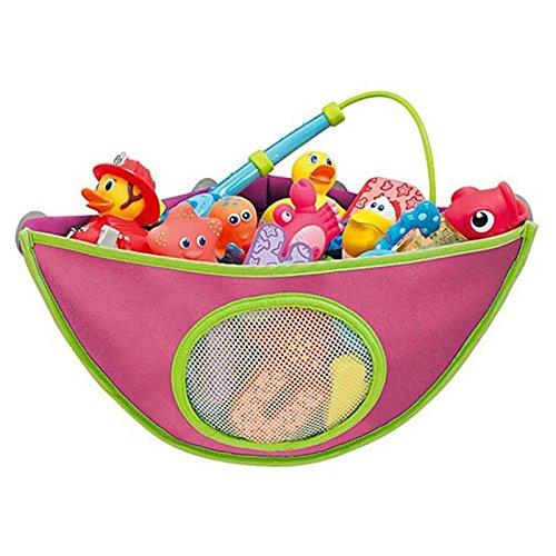 Badespielzeug Lagerung Organizer, wasserdicht Oxford Stoff Badewanne Dusche Spielzeug Aufbewahrungstasche für Baby Jungen und Mädchen hält Toys Trocken und Form frei