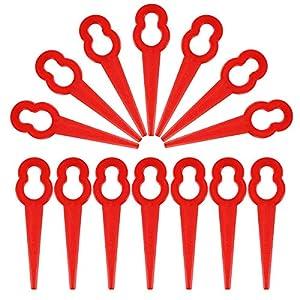 OUNONA 50pcs lam¨¦ per tagliaerba plastica Erba Trimmer Lame Tosaerba Sostituzione Trim Veloce switchblades (Rosso) 518Pc0LVW7L. SS300