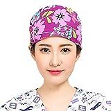 Pinji - Gorro de Enfermería para Pelo Largo Reutilizable, Gorro para Enfermera Médico, Gorro de Trabajo Elástico Púrpura