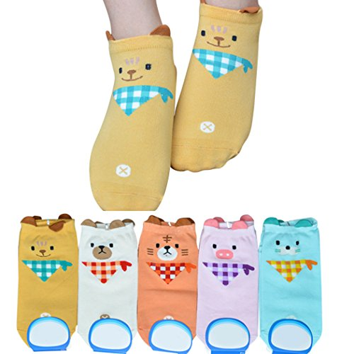 Fascigirl Knöchel Socken Karikatur Tier Muster Lässig Sport Socken für Frauen Mädchen (Geschnitten Socken Paar Knöchel 6)