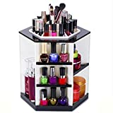 Demarkt 360 Grad Kosmetikorganizer 7 Adjustable Levels Make Up Organizer Large Storage Compartment Einstellbarer Multifunktionale Aufbewahrungsbox für Make-up, Gesichtscreme, Kosmetik...