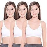 #6: BODYCARE Pack of 3 Sports Bra in White Color - E1608WWW