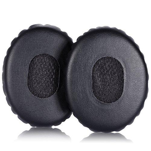 TurnRaise Cuscinetti di Ricambio Gommapiuma Orecchio Cuscini per Bose ON EAR OE2 OE2i Cuffie (Nero) - Casco Nero Design