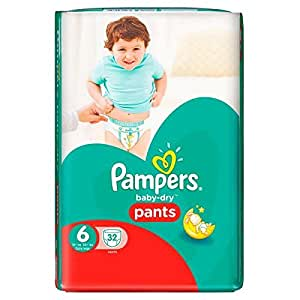 pampers baby dry pants taille 6 16 kg et 32 couches. Black Bedroom Furniture Sets. Home Design Ideas