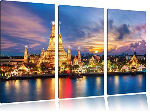 wat-arun-temple-night-view-bangkok-thailandia-3-pezzi-picture-tela-120x80-immagine-sulla-tela-xxl-en