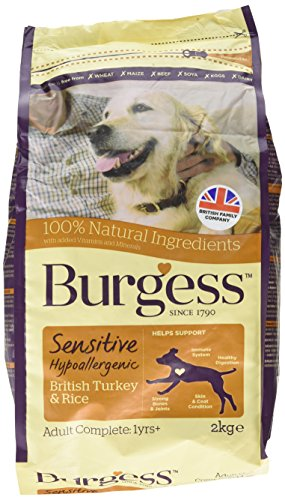 Burgess Sensitive Hypoallergenic Dog Food Adult British Lamb and Rice 2kg