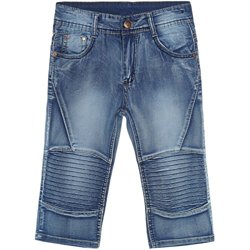 Jungen Kinder-Shorts Cargo Kurze-Hose Bermuda Capri Vintage Strech Boy 21312, Farbe:Blau;Größe:164 (Kurze Cargo Hose)
