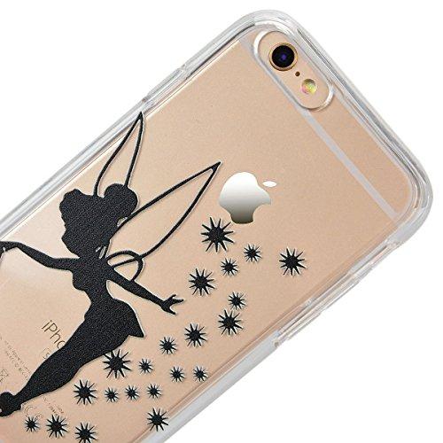 "HB-Int 3 in 1 Transparent Hülle für iPhone 6 / 6S (4.7"") Hart Kunststoff Back Case + Weich Silikon Rahmen Donuts Dünn Schutzhülle Full Body Shell TPU Rundum Tasche Beschützer Haut Protective Etui Bump Fee"