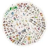 Dekoration Sticker Pack für Kinder Erwachsene 1500+ Designs 72 Blätter