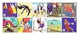 10x timbres-2011Soyez prêt pour jeux olympiques et paralympiques de Londres 2012-Royal Mail Timbres