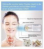 ***Derma Stamp Anti Aging für Gesicht, Oberlippen, Augen, Dekoltee, Hände ***** Micro-feine Nadeln mit Öffnungen, für die Flüssigkeitszufuhr zum Auffrischen der Haut