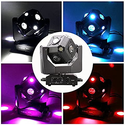 JUDYelc Professionelle LED Moving Beam Head Licht Wasserdicht 100 Watt 4 in 1 RGBW 15/21 Kanal Infinite Rotating Party Lichter für Geburtstag Disco Tanz Hochzeit Weihnachten Halloween Karaoke
