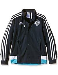 adidas Jacke Chelsea Anthem - Prenda, color azul (dark marine/white/intense blue f11), talla de: 152