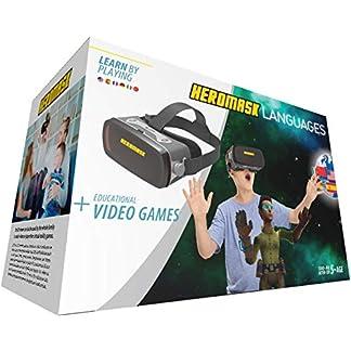 Gafas Realidad Virtual Niños + Juego Educativo Idiomas [ Regalo Original ] Aprende inglés, francés, etc. Juguete niño y niña 5 6 7 8 9 10 11 12 años – Gafas virtuales 3D – Cumpleaños – Navidad – VR