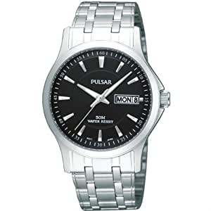 Pulsar Watches Men's Analogue Silver Stainless Steel Watch