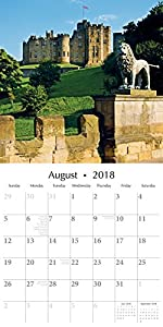 2018 Northumberland Wall Calendar 12 x 12 - With 1 Sheet Bonus Reminder Stickers