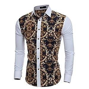 Luckycat Neuer Männer Herbst Winter Casual BluHerrendruck Langarm Slim T-Shirt Top Bluse Mode 2018