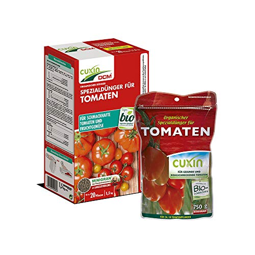 Cuxin Bio Langzeit Tomatendünger⎜für ca. 20 Pflanzen⎜alle Tomatensorten⎜ mit NPK Dünger (Gemüse und Kräuter, 1,5 Kg)